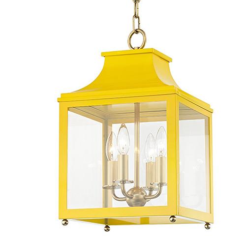 Leigh Aged Brass Marigold 4-Light 11.5-Inch Pendant
