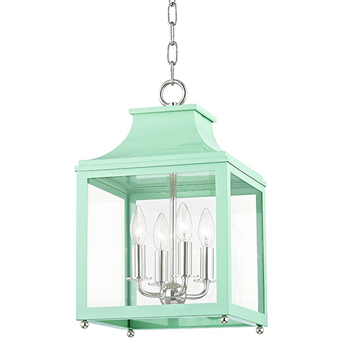 Mitzi by Hudson Valley Lighting Leigh Polished Nickel Mint 4-Light 11.5-Inch Pendant