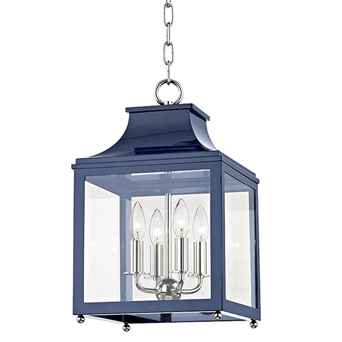 Leigh Polished Nickel Navy 4-Light 11.5-Inch Pendant