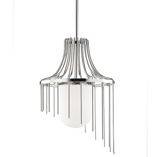 Kylie Polished Nickel 1-Light 16-Inch Pendant