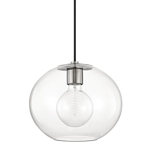Margot Polished Nickel 12-Inch One-Light Pendant
