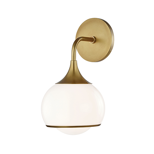 Reese Aged Brass One-Light Bathroom Vanity Light