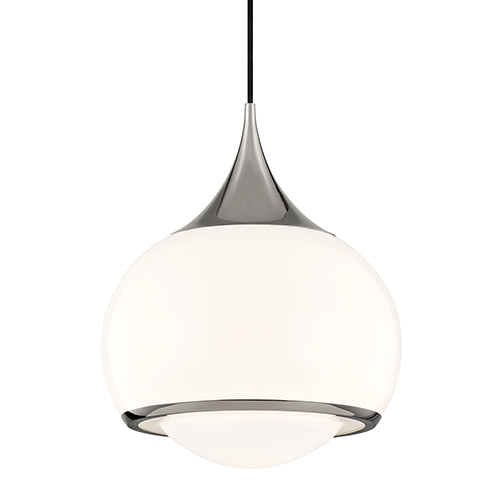 Reese Polished Nickel One-Light Pendant