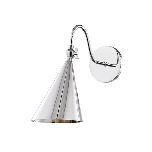 Lupe Polished Nickel One-Light Wall Sconce