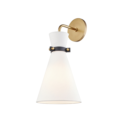 Julia Aged Brass One-Light Wall Sconce