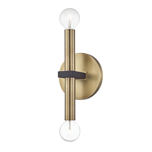 Colette Aged Brass Two-Light Wall Sconce