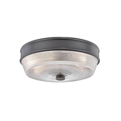 Lacey Old Bronze Two-Light Flush Mount