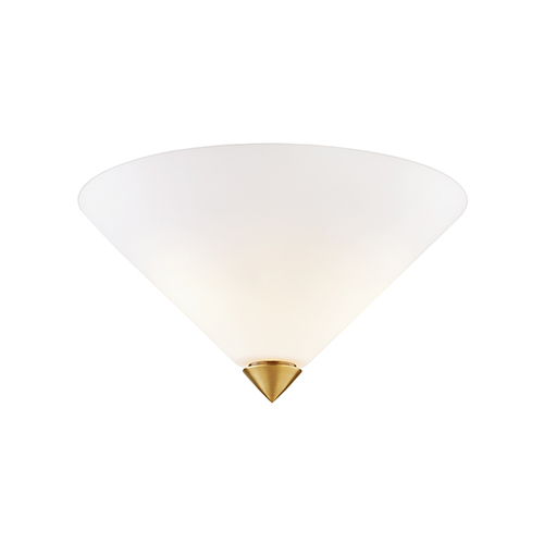 Ulla Aged Brass Two-Light Flush Mount