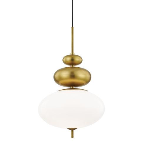 Elsie Aged Brass One-Light Pendant