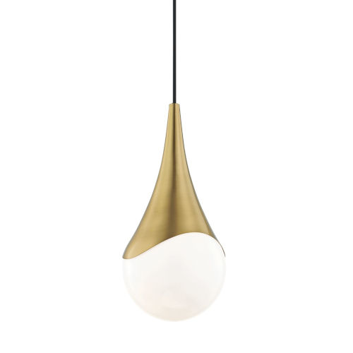 Ariana Aged Brass One-Light Mini Pendant