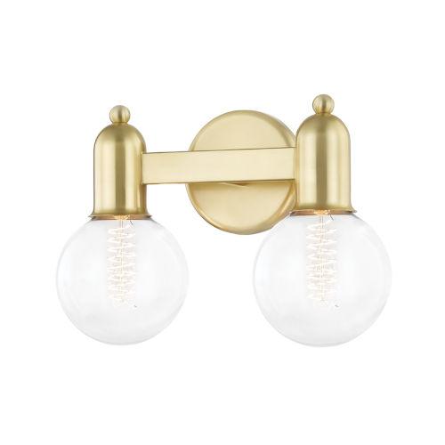 Bryce Aged Brass Two-Light Bath Vanity
