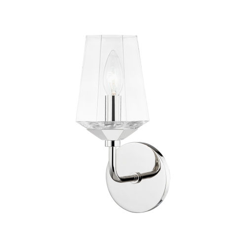 Kayla Polished Nickel One-Light Wall Sconce