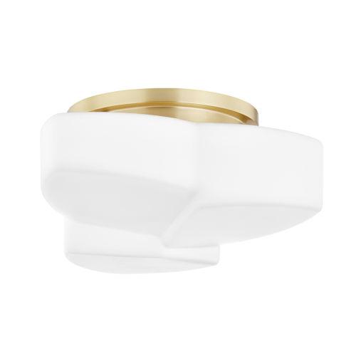 Amora One-Light Semi-Flush with Opal Matte Glass