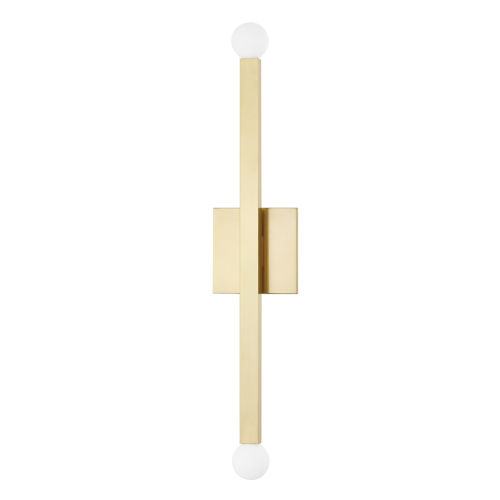 Dona Aged Brass Two-Light Wall Sconce