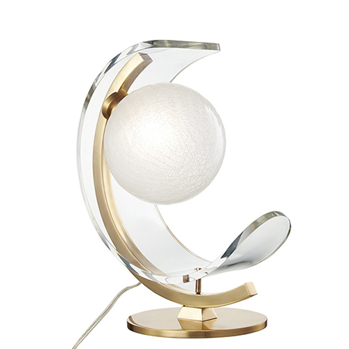 Arden Aged Brass LED 13-Inch Table Lamp