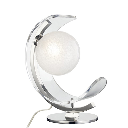 Arden Polished Nickel LED 13-Inch Table Lamp