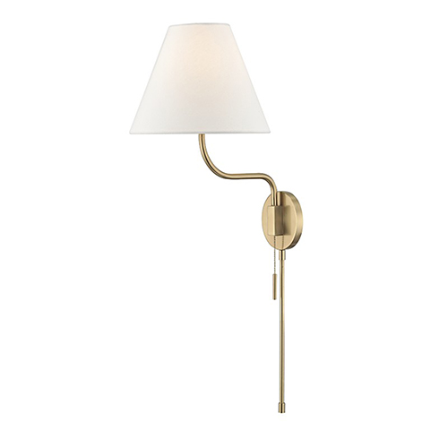 Patti Aged Brass 1-Light 10.5-Inch Wall Sconce