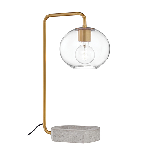 Margot Aged Brass One-Light Table Lamp