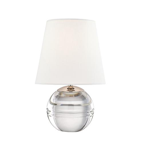 Nicole Polished Nickel One-Light Table Lamp