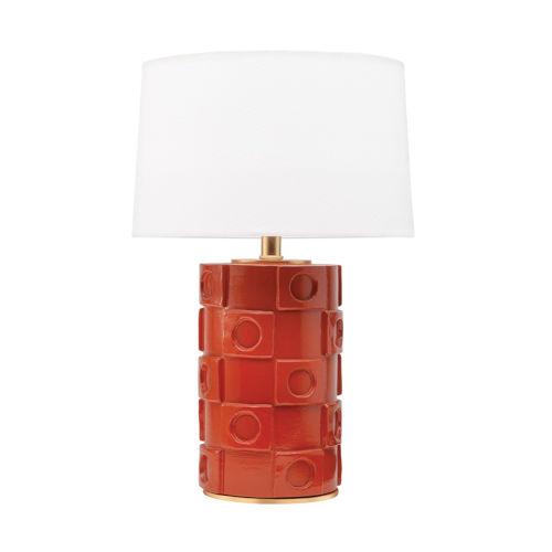 Athena Burnt Orange and Gold One-Light Table Lamp