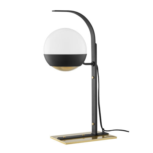 Aly Aged Brass and Black One-Light Table Lamp