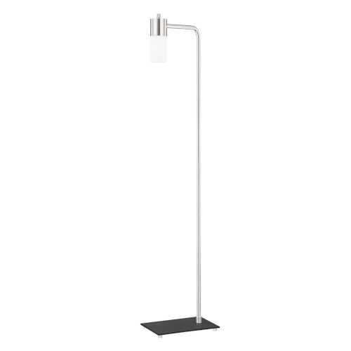Lola One-Light Armchair Floor Lamp with Opal Matte Glass