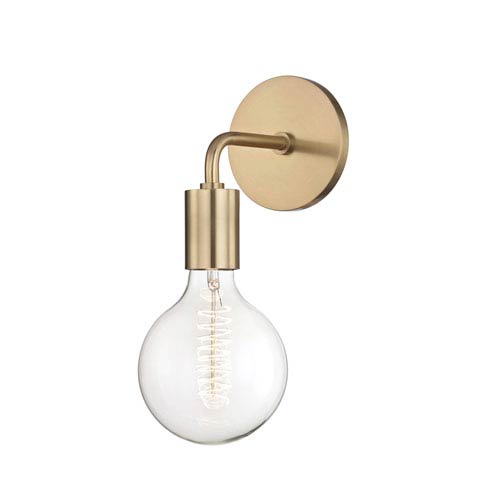 Ava Aged Brass 11-Inch One-Light Wall Sconce