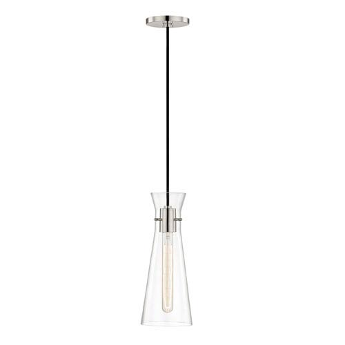 Anya Polished Nickel 6-Inch One-Light Mini Pendant