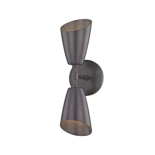 Kai Old Bronze 5-Inch Two-Light Wall Sconce