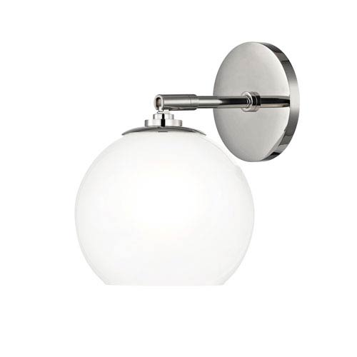 Mitzi by Hudson Valley Lighting Tilly Polished Nickel 7-Inch LED Wall Sconce