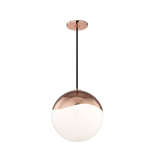Ella Polished Copper 11-Inch One-Light Pendant