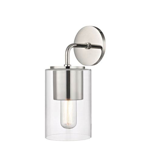 Lula Polished Nickel 5-Inch One-Light Wall Sconce