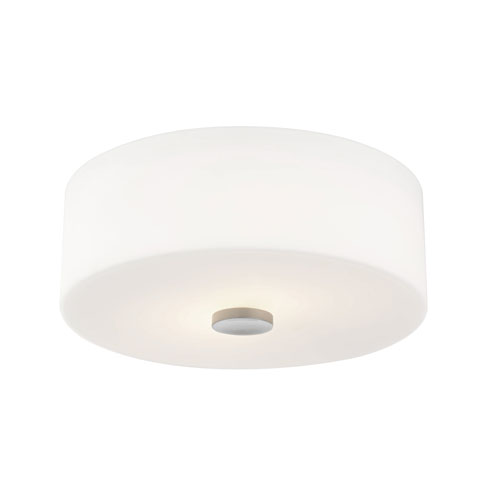 Sophie Polished Nickel 12-Inch Two-Light Flush Mount