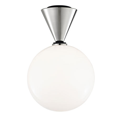 Mitzi by Hudson Valley Lighting Piper Polished Nickel 9-Inch LED Flush Mount