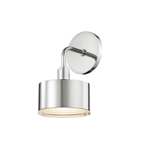 Mitzi by Hudson Valley Lighting Nora Polished Nickel 5-Inch LED Wall Sconce