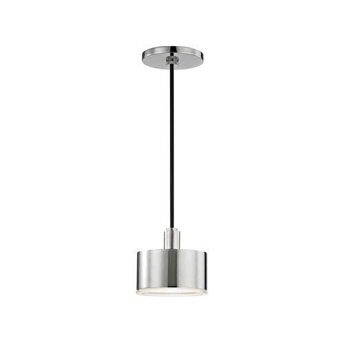 Nora Polished Nickel 5-Inch LED Mini Pendant
