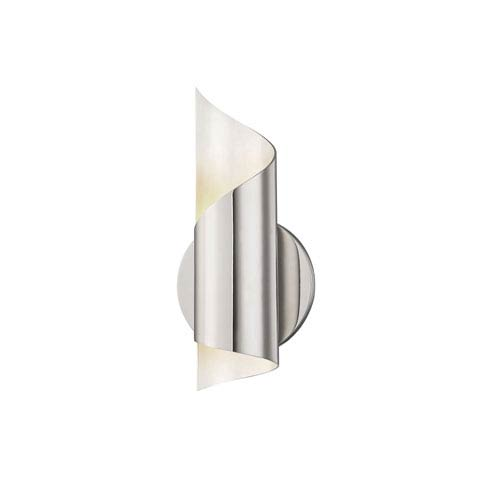 Evie Polished Nickel 5-Inch LED Wall Sconce