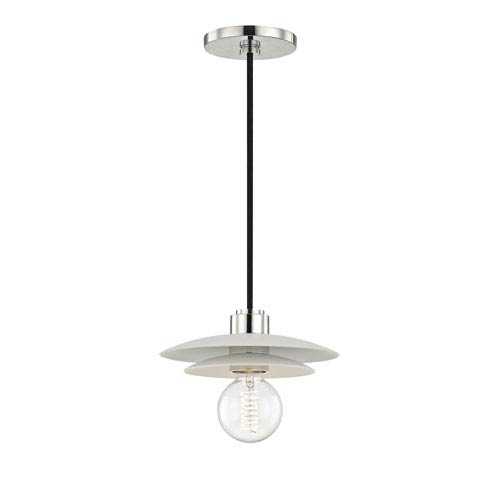 Mitzi by Hudson Valley Lighting Milla Polished Nickel 8-Inch One-Light Mini Pendant