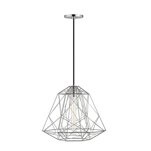 Ani Polished Nickel 16-Inch One-Light Pendant