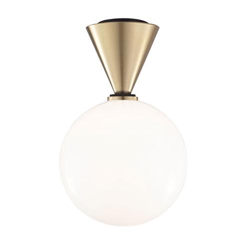 Mitzi by Hudson Valley Lighting Piper Aged Brass 9-Inch LED Flush Mount