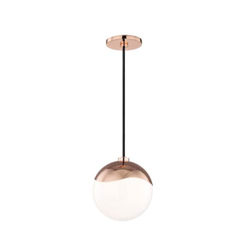 Ella Polished Copper 8-Inch One-Light Mini Pendant