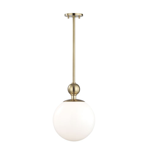 Daphne Aged Brass 11-Inch One-Light Pendant