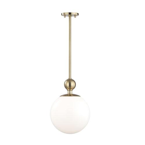 Mitzi by Hudson Valley Lighting Daphne Aged Brass 11-Inch One-Light Pendant