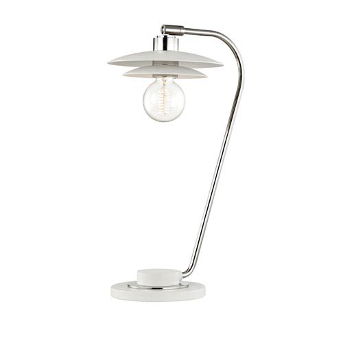 Milla Polished Nickel 8-Inch One-Light Table Lamp