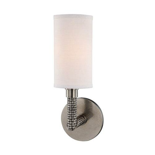 Dubois Historic Nickel 4-Inch One-Light Wall Sconce