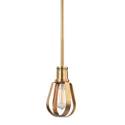 Hudson Valley Red Hook Aged Brass One-Light Mini Pendant