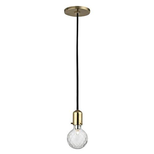 Marlow Aged Brass One-Light Mini Pendant