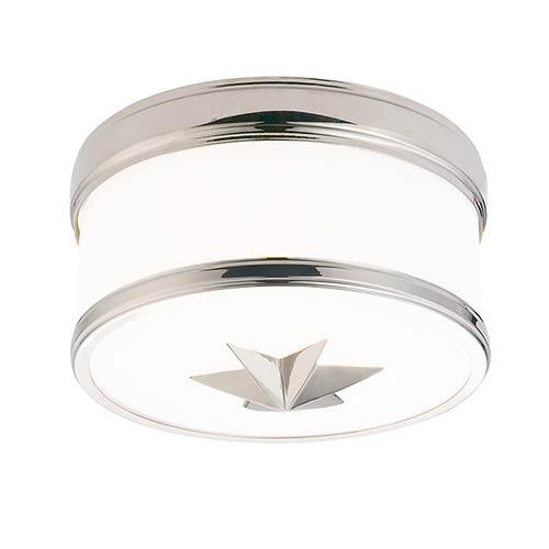 Seneca Polished Nickel One-Light Flush Mount with Opal Glass
