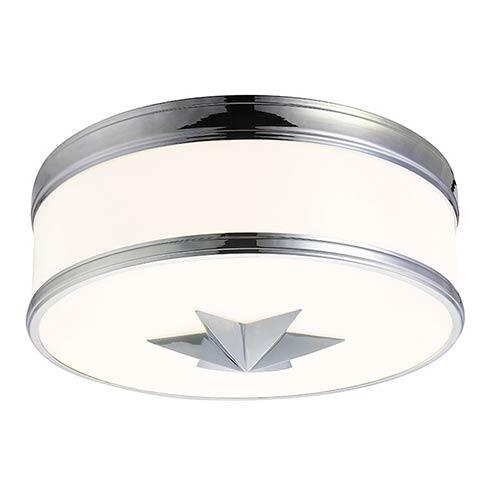 Seneca Polished Nickel Three-Light Flush Mount with Opal Glass