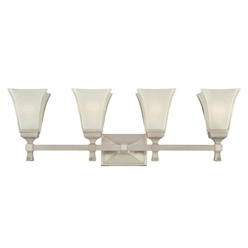 Kirkland Satin Nickel Four-Light Bath Fixture